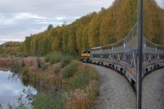 El ferrocarril de Alaska Imagen de archivo libre de regalías