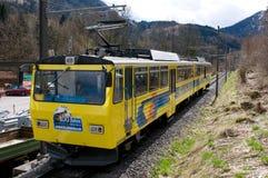 El ferrocarril de estante de Wendelstein - estación del valle Imagen de archivo libre de regalías