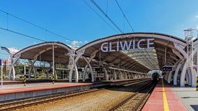 El ferrocarril de Gliwice Foto de archivo