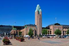El ferrocarril de Helsinki, Finlandia Foto de archivo