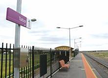 El ferrocarril de Talbot, situado en la línea de Mildura, abierta de nuevo en diciembre de 2013 Fotografía de archivo