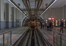 El ferrocarril histórico del tunel, Estambul fotografía de archivo