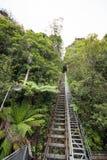El ferrocarril más escarpado en el mundo fotos de archivo