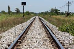 El ferrocarril usado para transportar. Fotografía de archivo