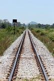 El ferrocarril usado para transportar. Fotos de archivo