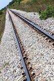 El ferrocarril usado para transportar. Imagen de archivo