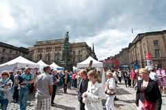 El festival 2011 de la franja de Edimburgo Imagen de archivo libre de regalías