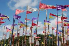 Banderas del festival Imagen de archivo