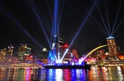 El festival de la ciudad de Brisbane de las luces el 12 de septiembre Imagen de archivo libre de regalías