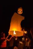 El festival de linterna del fuego Fotografía de archivo