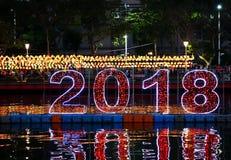 El festival 2018 de linterna en Taiwán Fotografía de archivo