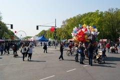 El festival de los niños internacionales, 23 Nisan (festividad nacional turca) Foto de archivo libre de regalías
