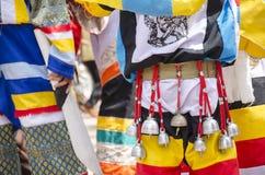 El festival de Phi Ta Khon es la atracción más grande al pueblo agrícola de otra manera soñoliento de Dan Sai fotografía de archivo