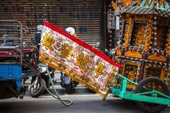 El festival de primavera chino, el festival de linterna, las aduanas populares de Taiwán, el fundador y dios, bendiciendo ceremon Foto de archivo libre de regalías