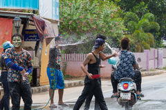 El festival de Songkran se celebra en Tailandia Fotos de archivo libres de regalías