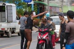 El festival de Songkran se celebra en Tailandia Imagen de archivo