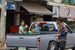 El festival de Songkran se celebra en Tailandia Fotografía de archivo