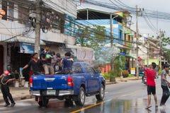El festival de Songkran se celebra en Tailandia Foto de archivo