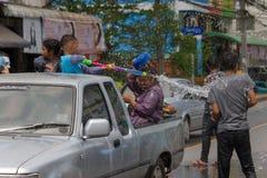 El festival de Songkran se celebra en Tailandia Fotografía de archivo libre de regalías