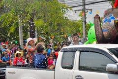El festival de Songkran se celebra en un día de Año Nuevo tradicional Imagen de archivo libre de regalías