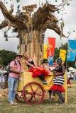 El festival del árbol de Larmer, Tollard real, Wiltshire, Reino Unido Imagenes de archivo