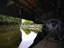 El festival del canal de Leeds Liverpool en Burnley Lancashire Foto de archivo libre de regalías