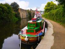 El festival del canal de Leeds Liverpool en Burnley Lancashire Imagen de archivo