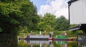 El festival del canal de Leeds Liverpool en Burnley Lancashire Foto de archivo