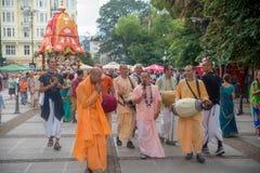 El festival del carro llamó el ` de Ratha Yatra del ` en Sofía, Bulgaria Imagenes de archivo