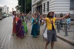 El festival del carro llamó el ` de Ratha Yatra del ` en Sofía, Bulgaria Fotografía de archivo libre de regalías