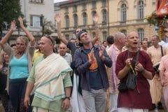 El festival del carro llamó el ` de Ratha Yatra del ` en Sofía, Bulgaria Imagen de archivo