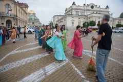 El festival del carro llamó el ` de Ratha Yatra del ` en Sofía, Bulgaria Fotos de archivo