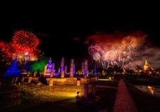 El festival en SuKhothai Imagenes de archivo