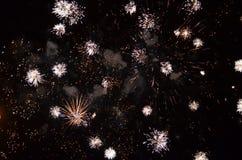 El festival internacional 2014 del teatro de Sibiu de los fuegos artificiales Fotografía de archivo libre de regalías