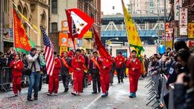 El festival lunar del Año Nuevo celebró en Chinatown de Manhattan Foto de archivo libre de regalías