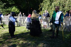 El festival medieval 2015 en el parque 10 de Tryon del fuerte Fotos de archivo