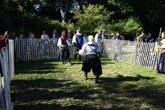 El festival medieval 2015 en el parque 11 de Tryon del fuerte Imagen de archivo libre de regalías