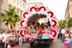 el-festivaler vallfärdar rocio royaltyfri bild