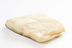 El filete del bacalao coció al horno aceitunas negras del calabacín de los tomates Fotos de archivo