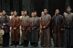El final de la llamada- de la cortina del actor de los eventos del drama-Shawan de la danza del pasado Fotografía de archivo libre de regalías