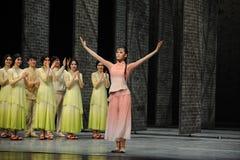 El final de la llamada- de la cortina del actor de los eventos del drama-Shawan de la danza del pasado Imágenes de archivo libres de regalías