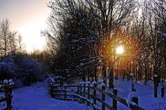 El final de un día de invierno perfecto imagenes de archivo