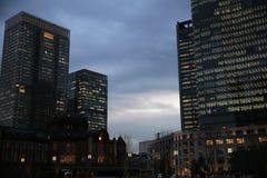 El final de un día en ciudad foto de archivo