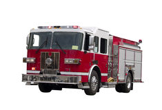 El Firetruck aisló Foto de archivo libre de regalías