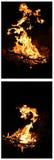 El flamear del fuego Imagen de archivo libre de regalías