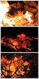 El flamear del fuego Fotografía de archivo libre de regalías