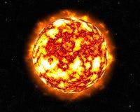 El flamear Sun que señala por medio de luces Imágenes de archivo libres de regalías