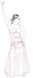 El flamenco del baile de la muchacha ilustración del vector