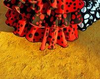 El flamenco se viste, feria de Sevilla, Andalucía, España Imagenes de archivo