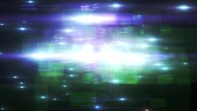 El flash que oscila extranjero señala por medio de luces efecto natural de los rayos de la lámpara de la iluminación de la animac almacen de metraje de vídeo